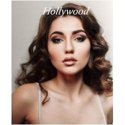 Вечерний макияж +голливудские локоны